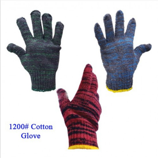 #1200 Batik Knitted Cotton Hand Glove (12 Pairs/Pack) 800gm