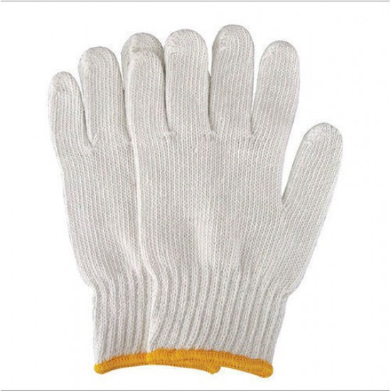 #105 Knitted Cotton Hand Gloves (12 Pairs)