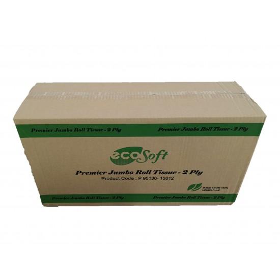ECO Soft Premier Jumbo Roll Tissue 2 Ply (12 Rolls)